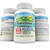 Garcinia Cambogia Extract Formula 100% Pure with HCA Plus Potassium for Maximum Absorption - 180 Fast Acting Veggie Capsules - All Natural Appetite Suppressant, Fat Burner, Carb Blocker and Weight Loss Supplement, 3rd Party Tested for Potency