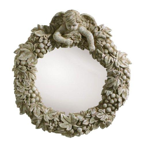 Grasslands Road Villa Cherub Grape Leaf Convex Mirror (Discontinued by Manufacturer)