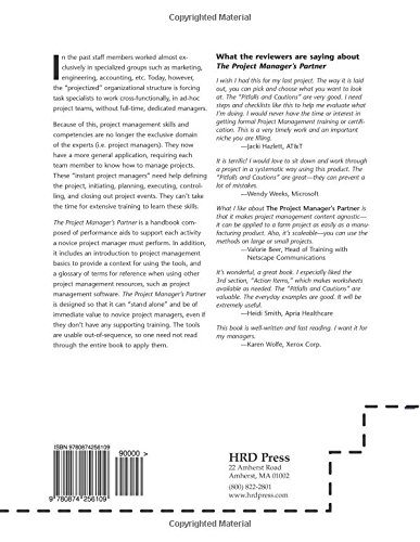 The Project Manager's Partner, 2nd Edition: A Step-by-Step Guide to Project Management