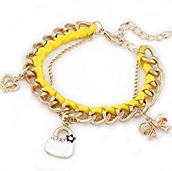 Aaishwarya Fashionable Yellow Charms Bracelet