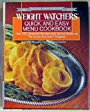 Weight Watchers Quick and Easy Menu Cookbook (Plume)