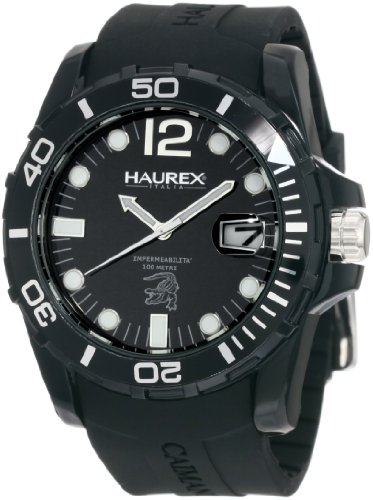 Haurex Italy Men's N1354UNN Caimano Date Black Dial Rubber Sport Watch