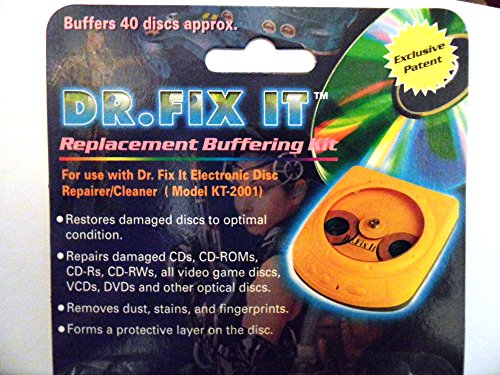 6-x-packs-of-dr-fix-it-replacement-buffering-kit-for-use-with-dr-fix-it-electronic-disc-repairer-cle