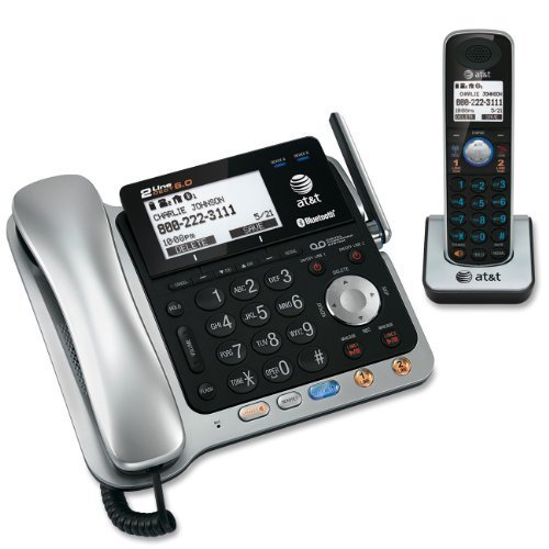 At&T 86109 Dect 6.0 Corded/Cordless Phone, Silver/Black, 1 Base And 1 Handset