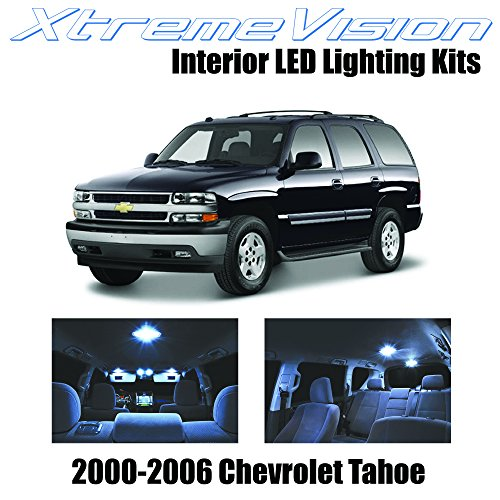 XtremeVision Chevy Tahoe 2000-2006 (18 Pieces) Cool White Premium Interior LED Kit Package + Installation Tool (Interior Part For Tahoe compare prices)