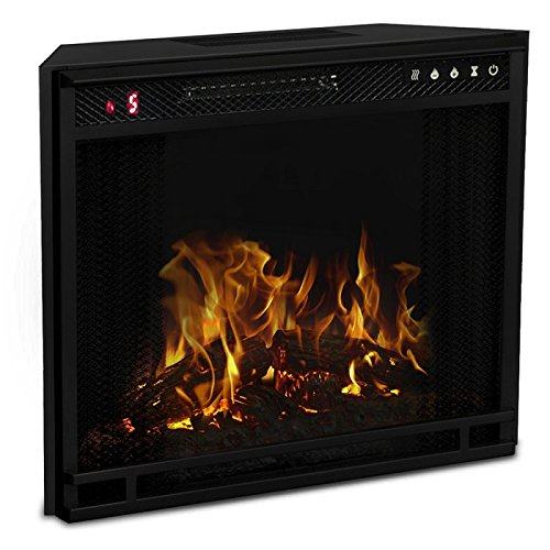23 Inch LED Ventless Electric Space Heater Built-in Recessed Firebox Fireplace Insert