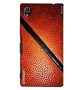 Omnam Brown Leather Printed Pattern Printed Designer Back Cover Case For Sony Xperia M4