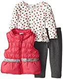 Young Hearts Baby Girls' 3 Piece Heart Nylon Vest Set