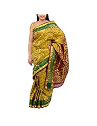 Kothari Olive Green Silk Saree For Women