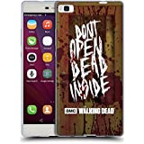 Huawei P8 , Do Not Open : Official AMC The Walking Dead Do Not Open Typography Soft Gel Case For Huawei P8