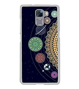 Solar System 2D Hard Polycarbonate Designer Back Case Cover for Huawei Honor 7 :: Huawei Honor 7 Enhanced Edition :: Huawei Honor 7 Dual SIM