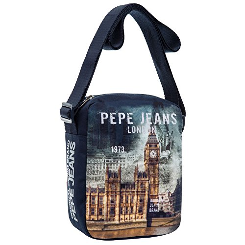 Pepe Jeans 6095651 London Borsa Messenger, Litri 2.35, Blu