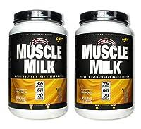 MuscleMilk Mocha Latte 2.47 lb (2 Pack) by CytoSport Muscle Milk
