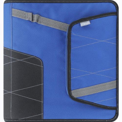Mead Zipper Binder With Pocket, 2 Inches, Blue (72845)