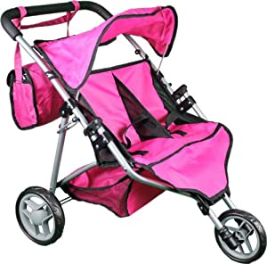 Amazon.com: Mommy & Me Twin Doll Stroller with Free ...