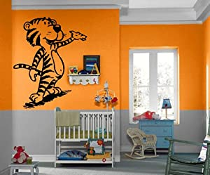 Cartoon tiger kids room decor wall mural vinyl for Decoration murale dragon ball
