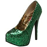 Bordello by Pleaser Women's Teeze-06 Platform Pump,Green Glitter,11 M US