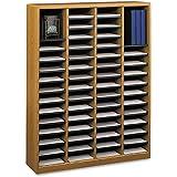 Safco Products 9331MO E-Z Stor Wood Literature Organizer, 60  Compartment, Medium Oak