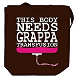 This body needs a Grappa transfusion Canvas Tote Bag