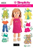 Simplicity Sewing Pattern 4654 One Size Doll Clothes