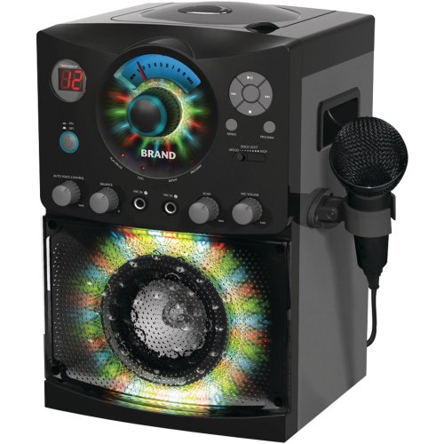 Singing Machine SML-385 Top Loading CDG Karaoke System With Sound and Disco Light Show, Black