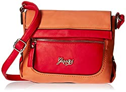 Gussaci Italy Women's Sling Bag (Orange) (GC577)