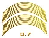 AUTOMAX izumi リム(黄)0.7cm▼直線イエロー反射 幅0.7cmリムステッカー14~16インチ対応 リムライン