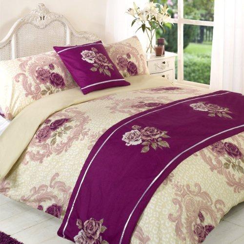 Dreamscene Coco Rose Bed In A Bag, Purple, Double
