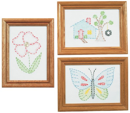 Cheapest Prices! Jack Dempsey Stamped Embroidery Kit Beginner Samplers, 6 by 8-Inch 3-Pack-Outside F...