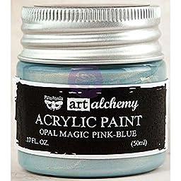 Prima Marketing 963668 Finnabair Art Alchemy Acrylic Paint, 1.7 fl. oz., Opal Magic Pink/Blue