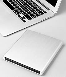 Premium Slot Aluminum External USB DVD+RW,-RW Super Drive for Apple--MacBook Air, Pro, iMac, Mini