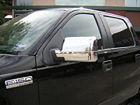 Ford F-150 Chrome Mirror Covers: Fits 2004, 2005, 2006, 2007 and 2008 Ford F150 XLT or FX4 Models