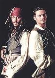 映画 パイレーツ・オブ・カリビアン ジョニー デップ&オーランド ブルーム  直筆サイン入り写真 ジャック スパロウ Johnny Depp
