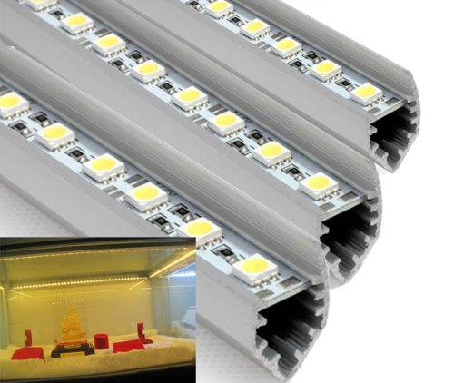 Hkbayi 5M 10Pcs /10 X 50Cm / 0.5M Smd 5050 Led Bar Light 12V Hard Rigid Strip Bar Light 36Leds With Aluminium Alloy Shell Housing Ce Rohs Warm White