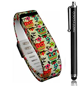 HAPPYCOCO New 2015 Flowers Rosees Taoo Style Replacement Band with Clasp for Fitbit Flex , Band only no tracker included