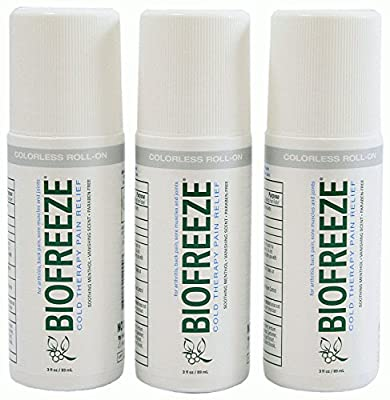 Biofreeze Pain Relieving Roll on Gel - 3 Ounce - Colorless - Pack of 3