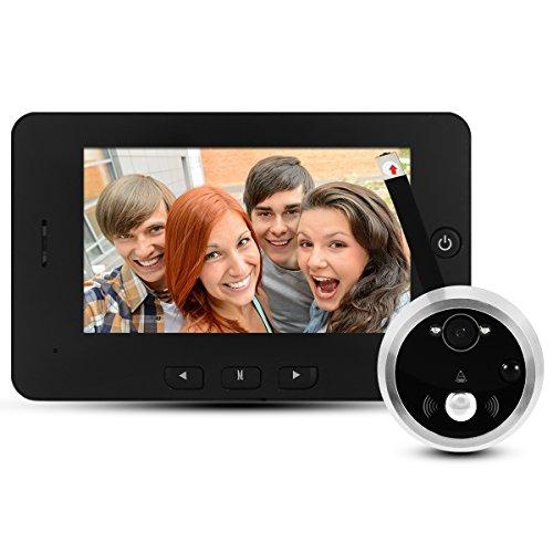 "Casa 120° 3.5"" TFT LCD Display Visione notturna Digitale Spioncino della porta Elettronico telecamera Peephole Viewer con doorbell, 0.3 Megapixel, Infrarosso TH212"