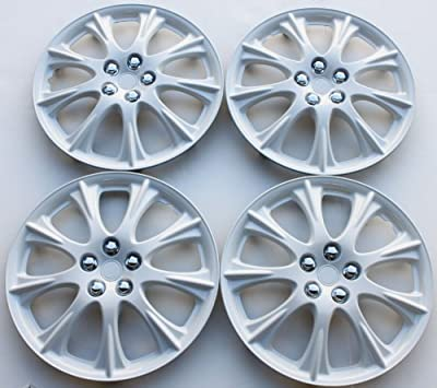 "15"" Set Of 4 White Hubcaps Wheel Covers Design Are Universal Hub Caps Fit Most 15 Inch Wheels"