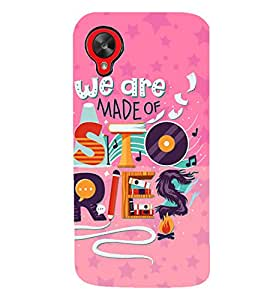 PrintVisa Quotes & Messages Life Colorful 3D Hard Polycarbonate Designer Back Case Cover for LG Google Nexus 5