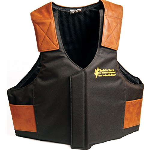 Saddle Barn Tack Cordura Protective Vest Black/Orange (Protective Horse Riding Vest compare prices)
