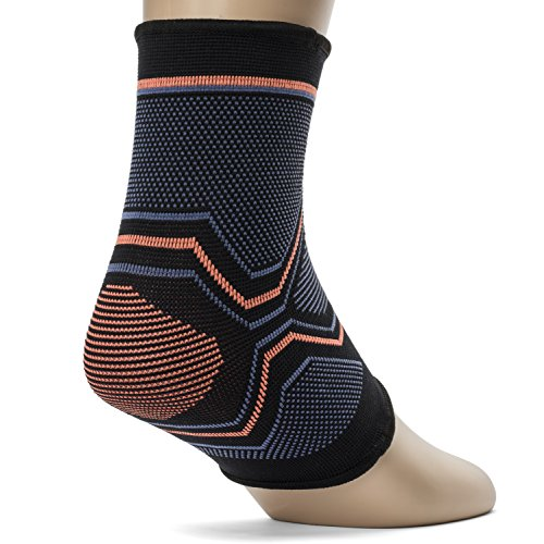 Kunto Fitness Ankle Brace Compression Support Sleeve for Athletics, Injury Recovery, Joint Pain, and More! (Large)