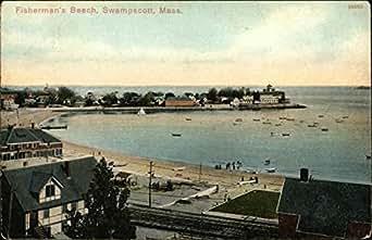 Fisherman 39 S Beach Swampscott Massachusetts Original Vintage Postcard At Amazon 39 S Entertainment