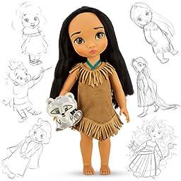Disney Princess Animators\' Collection Toddler Doll 16\'\' H - Pocahontas with Plush Friend Meeko