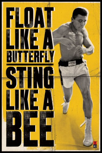 Muhammad Ali - Poster Float like a butterfly