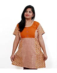 Viniyog Women Hand Block Printed Cotton Kurti