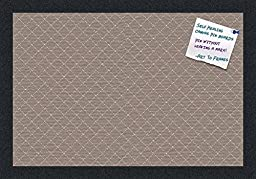 PinPix decorative pin cork bulletin board made from high quality canvas, Seemless Pattern printed at 18x12 Inches and framed in Satin Black (PinPix-530)