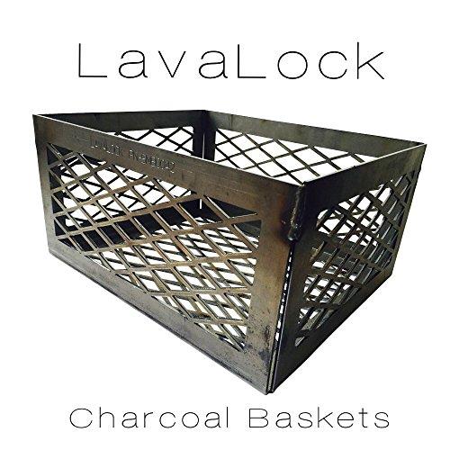 Total Control BBQ Charcoal Basket smoker pit (fire box basket) 12 x 10 x 6 LASER CUT (Oklahoma Joe Bbq compare prices)