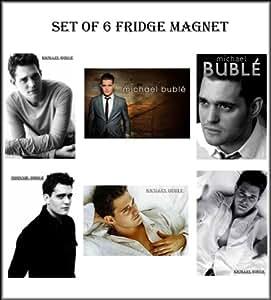 SET OF 6 MICHAEL BUBLE FRIDGE MAGNET GIFTS SET