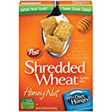 Post Shredded Wheat Honey Nut Spoon Size Cereal, 20 oz (Pack of 6)