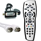 Sky + HD REV 9 Replacement Remote Control with Black Global Magic Eye TV Link & 15M Cable Kit, From Sky Satellites Ltd